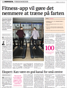 TrainAway in the Danish Newspaper Børsen
