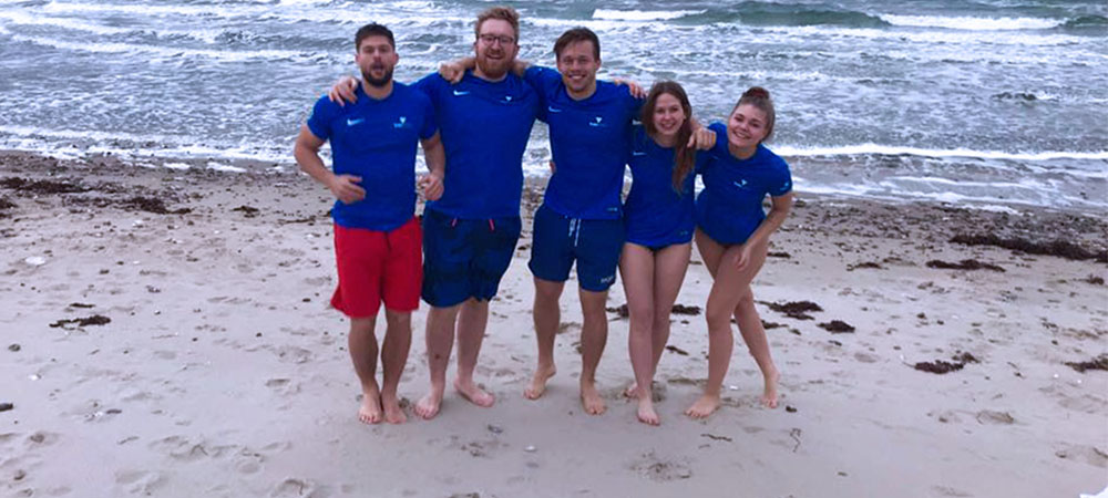 The TrainAway team went for an invigorating winter swim during the recent company retreat