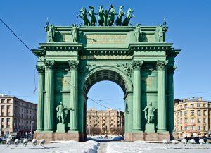 Narva Triumphal Arch St Petersburg Russia TrainAway