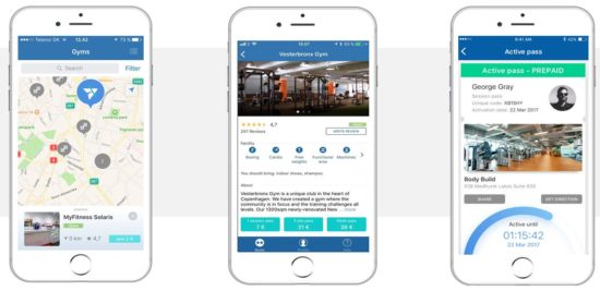With TrainAway easily find a gym and gain access when travelling