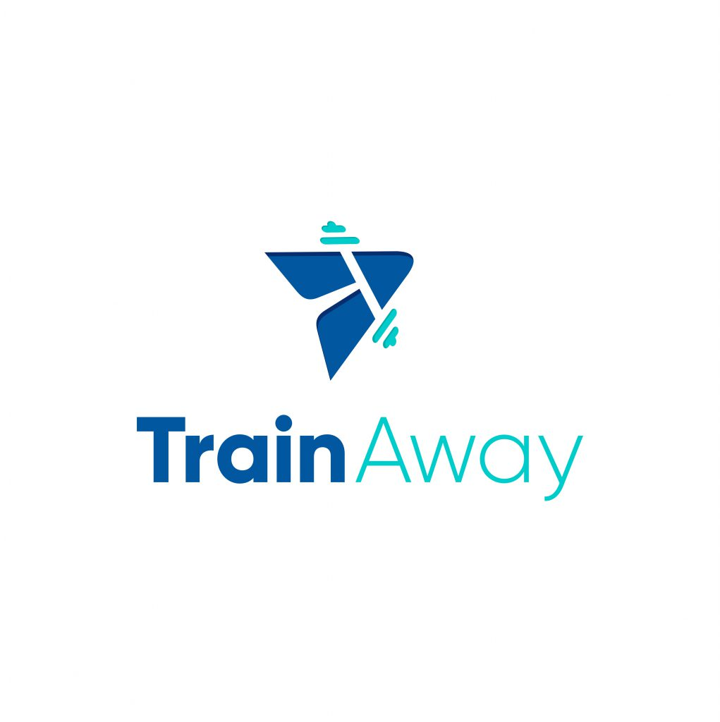 TrainAway logo white