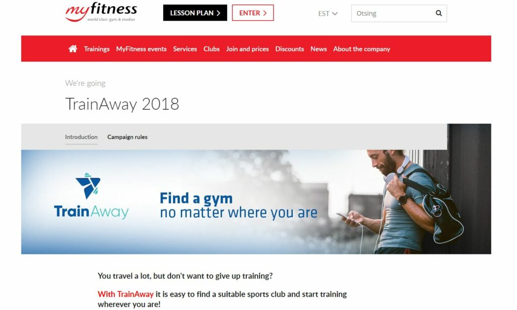 TrainAway links on your website will help users find you