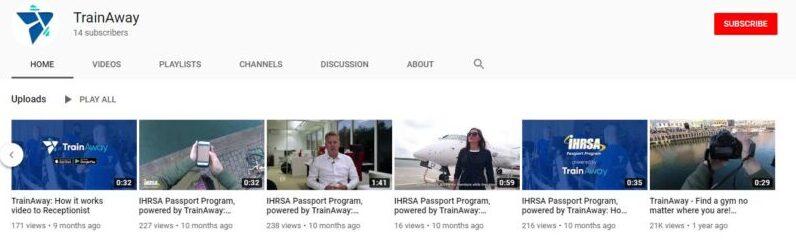 TrainAway Youtube Channel