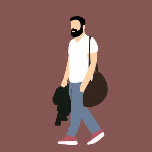 Animated man walking