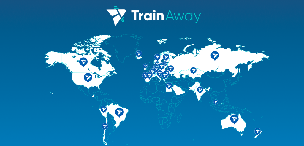 TrainAway global coverage