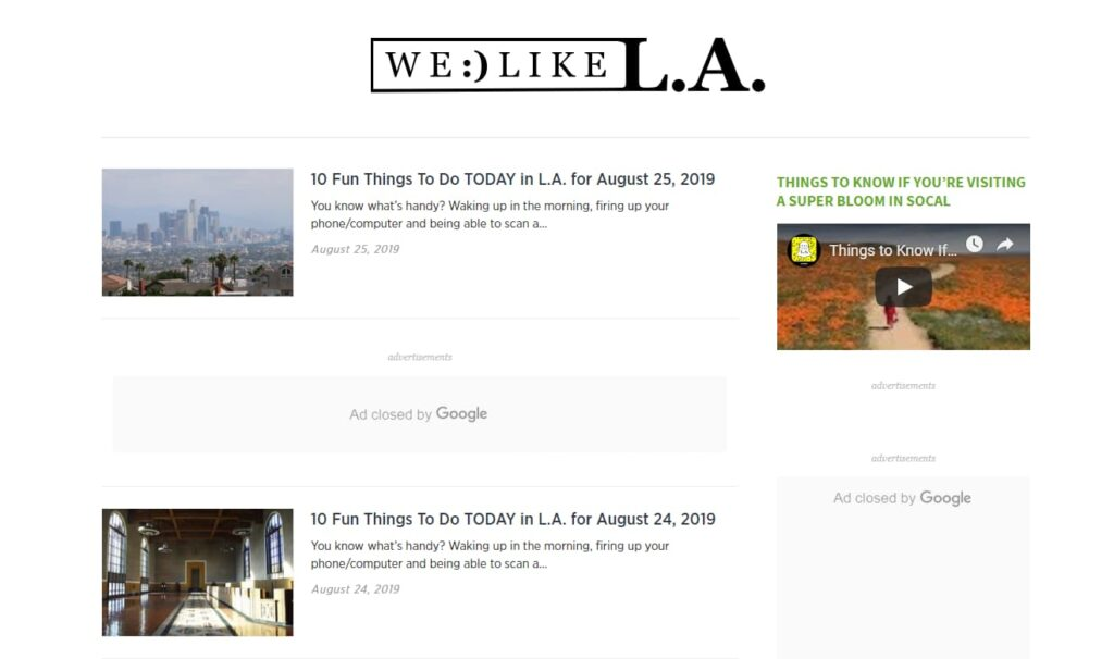 A blog about travel tips in LA